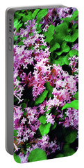 Portable Battery Charger featuring the painting Lilacs In May by Sandy MacGowan