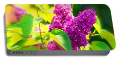 Portable Battery Charger featuring the photograph Lilacs by Susanne Van Hulst