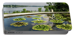 Lilies And The Lake Portable Battery Charger