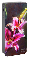 Lilies At Night Portable Battery Charger