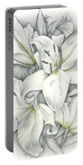 Lilies Pencil Portable Battery Charger