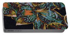 Portable Battery Charger featuring the digital art Lillies 22 by Lynda Lehmann