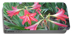 Lillies Portable Battery Charger by Cathy Harper