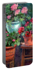 Lil's Geraniums Portable Battery Charger