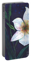 Portable Battery Charger featuring the painting Lily by Alga Washington
