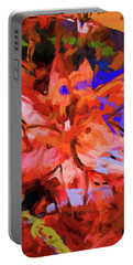 Lily Cobalt Orange Portable Battery Charger