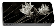 Lily In Monochrome Portable Battery Charger