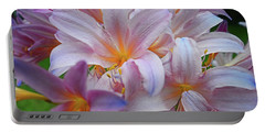 Lily Lavender Closeup Portable Battery Charger