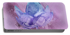 Portable Battery Charger featuring the digital art Lily My Lovely - S113sqc77 by Variance Collections