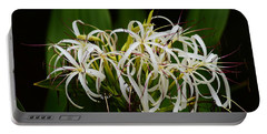 Lily Of The Nile Bloom Portable Battery Charger by Warren Thompson