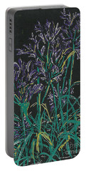 Portable Battery Charger featuring the mixed media Lily Of The Nile  by Vicki  Housel