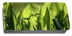 Portable Battery Charger featuring the photograph Lily Of The Valley Buds by Kennerth and Birgitta Kullman