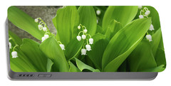 Portable Battery Charger featuring the photograph Lily Of The Valley by Cristina Stefan
