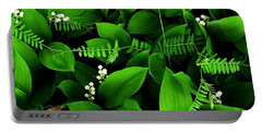 Lily Of The Valley Portable Battery Charger by Elfriede Fulda