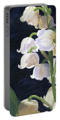 Portable Battery Charger featuring the painting Lily Of The Valley by Lynne Reichhart