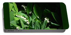 Lily Of The Valley Portable Battery Charger by Patricia Overmoyer