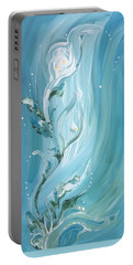 Portable Battery Charger featuring the painting Lily by Pat Purdy