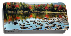 Portable Battery Charger featuring the photograph Lily Pond - Kancamagus Highway - New Hampshire by Joseph Hendrix