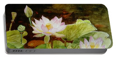The Lily Pond - Painting  Portable Battery Charger
