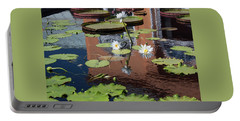 Lily Pond Reflections Portable Battery Charger by Suzanne Gaff