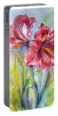Lily Red Portable Battery Charger by Jasna Dragun
