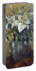 Lily-oil On Canvas Painting Portable Battery Charger