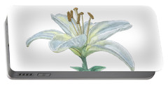 Lily Watercolor Portable Battery Charger