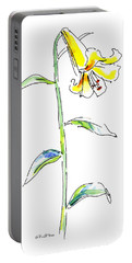 Lily Watercolor Painting 2 Portable Battery Charger