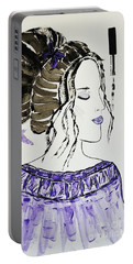 Portable Battery Charger featuring the painting Lily's Dream by Jasna Gopic