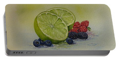Lime And Berries Portable Battery Charger