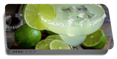 Portable Battery Charger featuring the photograph Lime Margarita Drink by Teri Virbickis