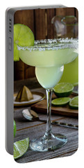 Portable Battery Charger featuring the photograph Lime Margaritas by Teri Virbickis