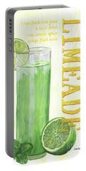 Portable Battery Charger featuring the painting Limeade by Debbie DeWitt