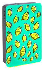 Limones De Primavera Portable Battery Charger by Studio Sananikone