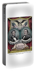Lincoln And Johnson Election Banner 1864 Portable Battery Charger