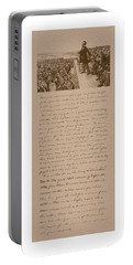 Lincoln And The Gettysburg Address Portable Battery Charger