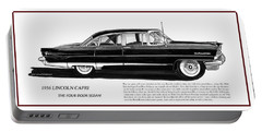 Lincoln Capri 1956 Portable Battery Charger by Jack Pumphrey