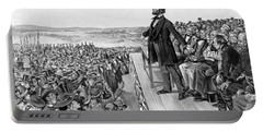Lincoln Delivering The Gettysburg Address Portable Battery Charger by War Is Hell Store