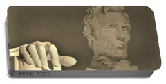 Lincoln Head And Hand Portable Battery Charger