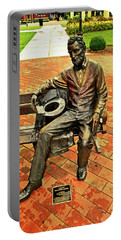 Portable Battery Charger featuring the photograph Lincoln Library Statue 004 by George Bostian