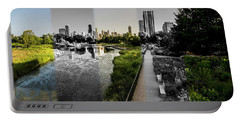 Lincoln Park Time Slice Chicago Skyline Portable Battery Charger