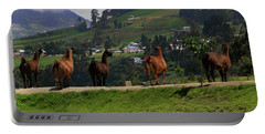 Line-dancing Llamas At Ingapirca Portable Battery Charger
