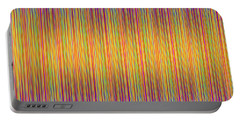 Portable Battery Charger featuring the digital art Lines 102 by Bruce Stanfield