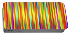 Portable Battery Charger featuring the digital art Lines 17 by Bruce Stanfield