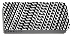 Portable Battery Charger featuring the digital art Lines 7 Diag by Bruce Stanfield