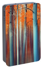 Portable Battery Charger featuring the photograph Lines Of Autumn by John De Bord