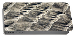 Lines On The Beach Portable Battery Charger