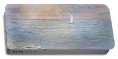Portable Battery Charger featuring the painting Lingering Freedom by Judith Rhue