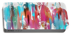Linkin Park Watercolor Paint Splatter Portable Battery Charger by Dan Sproul