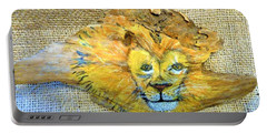 Lion Portable Battery Charger by Ann Michelle Swadener